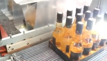 Shrink Boxes With Bottles Automatic Wrapping Machine